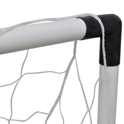 vidaXL Set de porterías de fútbol mini 2 uds para niños 91,5x48x61 cm