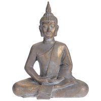 ProGarden Figura de Buda sentado gris dorado 50x28x62,4 cm