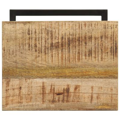 vidaXL Mesitas auxiliares 2 uds madera mango rugosa 31,5x24,5x64,5 cm