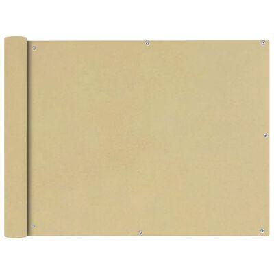 vidaXL Toldo para balcón tela oxford 90x600 cm beige