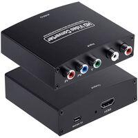 Convertidor de video HD - YPbPr y convertidor de audio L / R a HDMI
