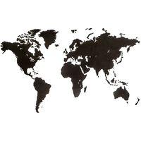 MiMi Innovations Mapa decorativo pared Luxury madera negro 180x108 cm