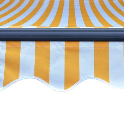 vidaXL Toldo retráctil sensor de viento LED amarillo blanco 400x300 cm