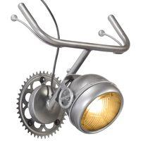 vidaXL Lámpara de pared con diseño de bicicleta hierro