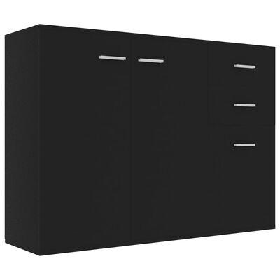 vidaXL Aparador de aglomerado negro 105x30x75 cm