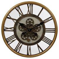 Gifts Amsterdam Reloj de pared Radar Open dorado latón 54,5 cm
