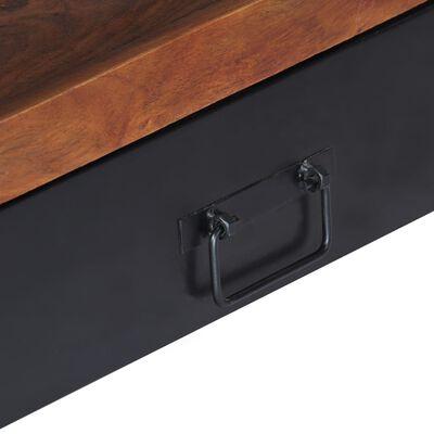 vidaXL Mueble para TV madera maciza de sheesham 120x30x40 cm