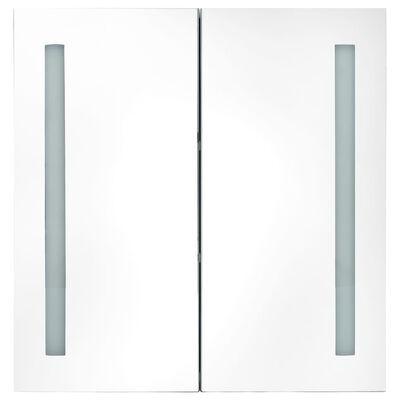 vidaXL Armario de baño con espejo LED gris hormigón 62x14x60 cm