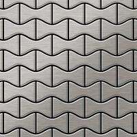 ALLOY Kismet-S-S-MB Mosaico de metal sólido Acero inoxidable gris