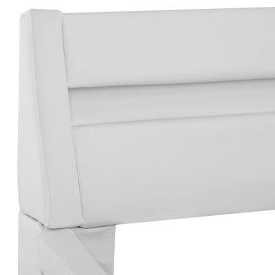 vidaXL Estructura de cama con LED de cuero sintético blanco 180x200 cm