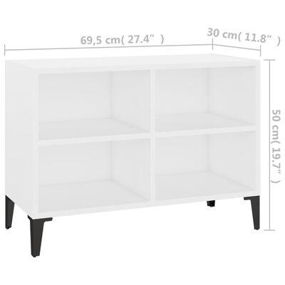 vidaXL Mueble de TV con patas de metal blanco 69,5x30x50 cm