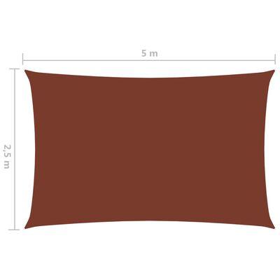 vidaXL Toldo de vela rectangular de tela oxford terracota 2,5x5 m