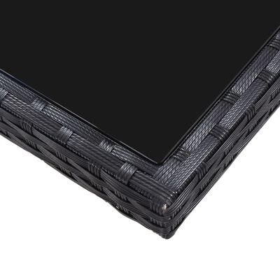 vidaXL Conjunto de comedor de exterior 7 piezas ratán sintético negro