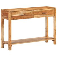 vidaXL Aparador de madera maciza de acacia 110x30x75 cm