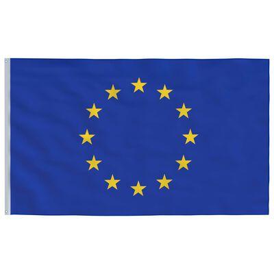vidaXL Bandera de la Unión Europea y mástil de aluminio 6 m