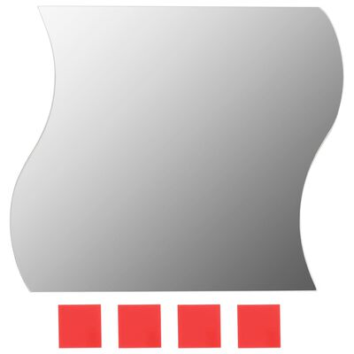 vidaXL Espejos de pared vidrio ondulado 20x20 cm 8 unidades
