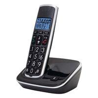Profoon Teléfono Inalámbrico con Botones Grandes de Color Negro PDX-2708
