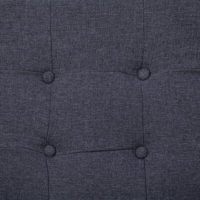 vidaXL Sofá de dos plazas con reposabrazos acero y tela gris oscuro