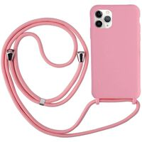 Funda para iPhone 12 Mini con collar rosa de TPU