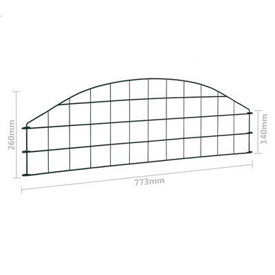 vidaXL Juego de vallas arqueadas para estanque verde 77,3x26 cm