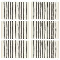 vidaXL Manteles individuales 6 uds algodón antracita y blanco 30x45 cm