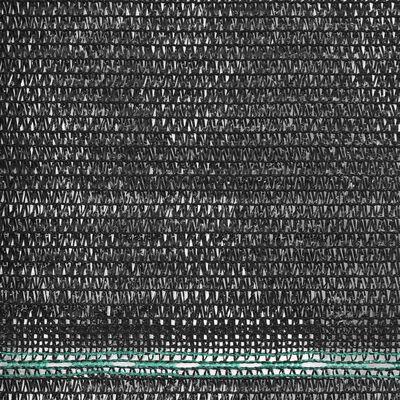 vidaXL Toldo para pista de tenis HDPE 1,4x100 m negro