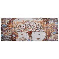 vidaXL Set de lona para pared árbol multicolor 150x60 cm