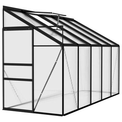 vidaXL Invernadero de aluminio gris antracita 6,23 m³
