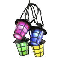 KONSTSMIDE Juego de faroles con 20 lámparas multicolor
