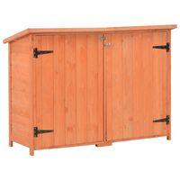 vidaXL Caseta de almacenamiento de jardín de madera 120x50x91 cm
