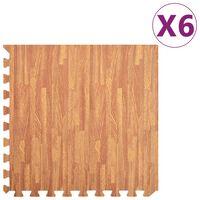 vidaXL Esterilla de ejercicio 6 piezas color madera 2,16 ㎡ EVA