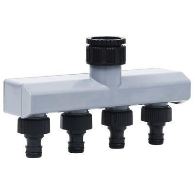vidaXL Temporizador de agua automático para jardín válvula de 4 vías