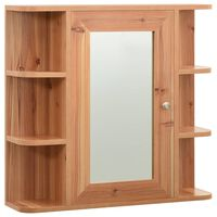 vidaXL Armario de espejo de baño MDF color roble 66x17x63 cm
