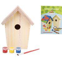 Esschert Design Casa nido con pintura 14.8x11.7x20 cm KG145