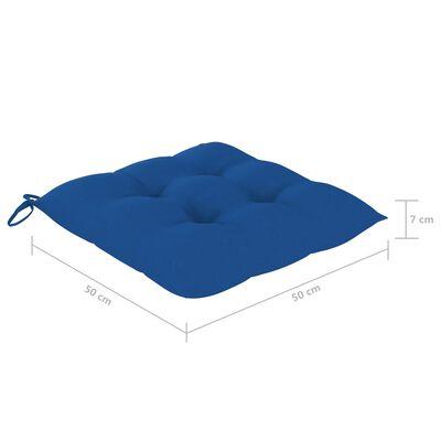 vidaXL Cojines de silla 6 unidades tela azul 50x50x7 cm