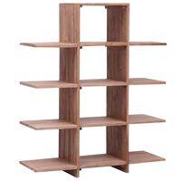 vidaXL Estantería de madera maciza de teca 100x30x120 cm