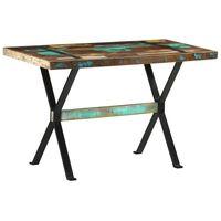 vidaXL Mesa de comedor de madera maciza reciclada 120x60x76 cm