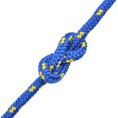 vidaXL Cuerda marina de polipropileno 14 mm 250 m azul