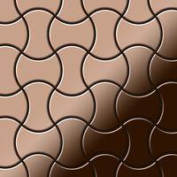 ALLOY Infinit-Ti-AM Mosaico de metal sólido Titanio cobre