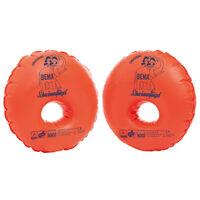 BEMA Manguitos de natación inflables Duo Protect naranja
