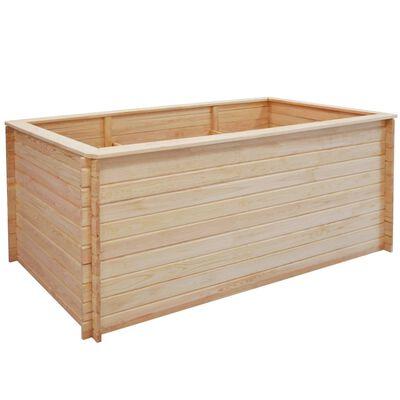 vidaXL Arriate de jardín de madera de pino 19 mm 200x100x80 cm