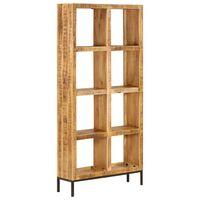 vidaXL Estantería madera maciza de mango 80x25x175 cm