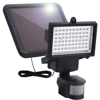 vidaXL Foco de jardín LED energía solar con sensor negro
