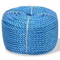 vidaXL Cuerda torcida de polipropileno 14 mm 100 m azul