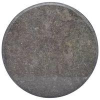 vidaXL Tablero para mesa mármol negro Ø60x2,5 cm
