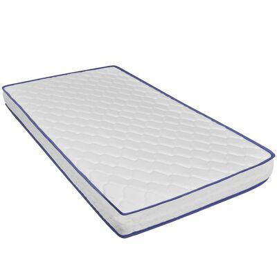 vidaXL Cama con colchón viscoelástico cuero sintético gris 140x200 cm