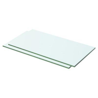 vidaXL Estantes 2 unidades panel de vidrio transparente 50x20 cm