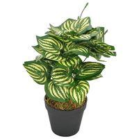 vidaXL Planta artificial hojas de sandía con macetero verde 45 cm
