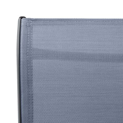 vidaXL Sillas altas de jardín 2 unidades textilene gris