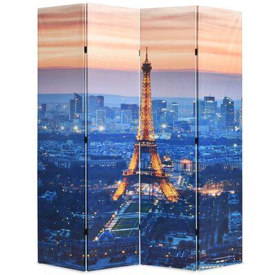 vidaXL Biombo divisor plegable 160x170 cm París de noche